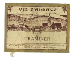 ETIQUETTE VIN ALSACE TRAMINER INGERSHEIM - Etiquettes