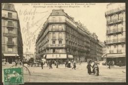 PARIS 10° Carrefour De La Rue St Vincent De Paul Maubeuge Et Boulevard Magenta (CM) (75) - Arrondissement: 10