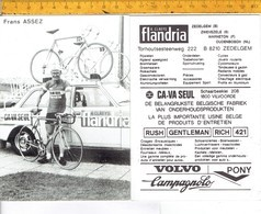 659 - CYCLISME - WIELRENNEN - FRANS ASSEZ - FLANDRIA - Ciclismo