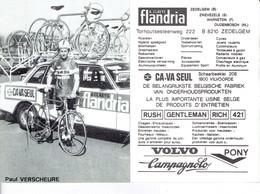 693 - CYCLISME - WIELRENNEN -  PAUL VERSCHEURE - FLANDRIA - Ciclismo