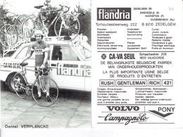 690 - CYCLISME - WIELRENNEN -  VERPLANCKE DANIEL - FLANDRIA - Ciclismo