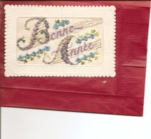 CPA BRODEE  Bonne Année ( Carte Envoyée En Creuse Voir Adresse Au Verso ) Réf 4434 - Brodées