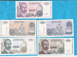1993  PETAR KOCIC  5  STUECK     RRR  SELTEN  BOSNIA REPUBLIKA SRPSKA BANJA LUKA LUX - Mezclas - Billetes