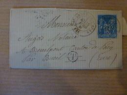LAC DE St-André-de-L'Eure OR De Bretagnoles - Postmark Collection (Covers)