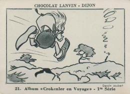 IMAGE CHOCOLAT LANVIN - Album CROKENLER EN VOYAGE - Série 1 - CHROMO DOUBLE - MALAUCENE  Col D'aurès - Chocolat