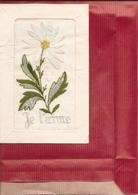 CPA BRODEE  Je T'aime ( Carte Envoyée En Creuse Voir Adresse Au Verso ) Réf 4446 - Brodées
