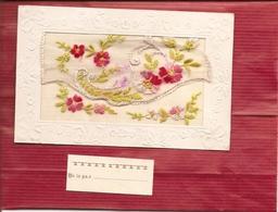 CPA BRODEE  ( Carte Envoyée En Creuse Voir Adresse Au Verso ) Réf 4448 - Brodées