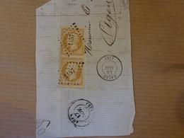 RARE Variétés Sur Paire Du N°13 Pc 1157 De EAUZE  SUR FRAGMENT - Postmark Collection (Covers)