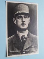 Général De GAULLE ( Blanco ) Anno 19?? ( Zie Foto ) ! - Hommes Politiques & Militaires