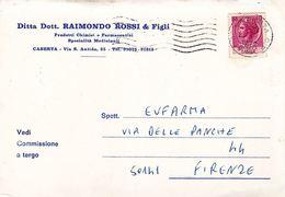 CASERTA - Cartolina Commerciale Ditta Dott.Raimondo Rossi & Figli - Via S.Antida - 1970 - Aversa