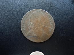 ROYAUME UNI : 1/2 PENNY  1775   KM 601    TB - 1662-1816 : Anciennes Frappes Fin XVII° - Début XIX° S.