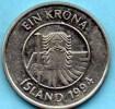 (r65) ICELAND / ISLANDE  1 KRONA 1994 - Islande