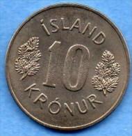 (r65) ICELAND / ISLANDE  10 KRONUR 1967 - Islande