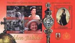 Ref. 84401 * NEW *  - GIBRALTAR . 2002. 50th ANNIVERSARY OF ELIZABETH II'S ACCESSION. 50 ANIVERSARIO DEL ACCESO AL TRONO - Gibraltar