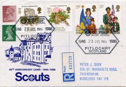 Ref. 266036 * USED *  - GREAT BRITAIN . 1982. 75th ANNIVERSARY OF THE SCOUTS. 75 ANIVERSARIO DEL ESCULTISMO - 1952-.... (Elizabeth II)