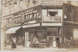 CPA PHOTO 75 PARIS I Les Halles 16 Rue Pierre Lescot à La Rue Rambuteau Restaurant Au Père Tranquille Rare - Distretto: 01