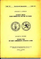 GREECE GRECE CATALOGUE ETUDE DES CACHETS COMMEMORATIFS SPECIAUX DE LA GRECE ANTOINE B VIRVILIES 1974 - Grecia
