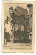 63 Cpa Riom  Maison Des Consuls Gravure Eau Forte Graveur Jaffeux Illustrateur - Riom
