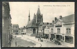 CPA - LAIGLE - Place St Martin, Animé - Automobile - L'Aigle