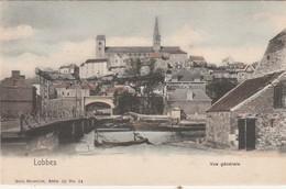 Lobbes , Vue Générale ,Nels, Série 10 N° 14 COLORISEE ,( L'église ) - Lobbes