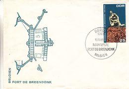 République Démocratique - Lettre De 1968 - Oblit Berlin - Statue Au Fort De Breendonk En Belgique - - Briefe U. Dokumente