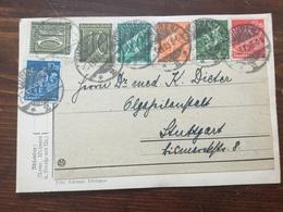 K5 Deutsches Reich 1923 Karte Von Tübingen Nach Stuttgart - Germania