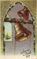 B 6152 - Joyeux Noêl     Cloches - Noël