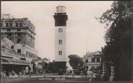 Queen Street Showing Entrance To Old Queen's House, Colombo, Ceylon, C.1930s - Plâté RP Postcard - Sri Lanka (Ceylon)