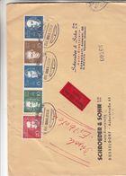 République Fédérale - Lettre Exprès De 1959 ° - Oblit Train Münster - Musique - Beethoven - Händel - Haydn - Valeur 50 € - [7] Repubblica Federale