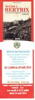 Annonce De L'expo Mourir à Bertrix, Mairie De Fleurance, L'homme Dans La Tragédie De 14/18 Juillet 2014 - 1914-18