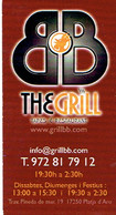 Carte De Visite De L'Hôtel The Grill BB, Platja D'Aro (vers 2015) - Cartes De Visite