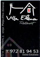 Carte De Visite Du Restaurant Villa Elena, Platja D'Aro (Espagne) Vers 2014 - Cartes De Visite