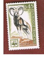 FRANCIA  (FRANCE)      -  SG 1847  -  1969 ANIMALS: MOUFLON  - MINT ** - Nuovi
