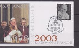 Vaticano 2003 FDC Emissione Congiunta Polonia Pope Giovanni Paolo II Joint Issue - Emissioni Congiunte