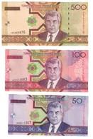 Turkmenistan Lot Set 3 Banknotes UNC .C2. - Turkmenistan