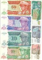 Zaire Lot Set 7 Banknotes UNC .C2. - Zaire