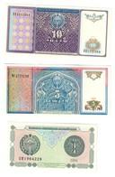Uzbekinstan Lot Set 3 Banknotes UNC .C2. - Uzbekistan