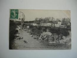 Orthez 1910 Vue Prise Du Pont Neuf - Orthez