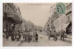 - CPA SAINT-QUENTIN (02) - La Rue D'Isle 1905 (LITERIES MEUBLES - IMPRIMERIE) - Edition Le Deley N° 27 - - Saint Quentin