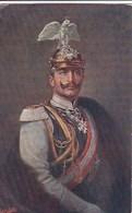 CPA ALLEMAGNE  Illustrateur OILETTE TUCK  Portrait  WILHELM II KAISER Décorations CASQUE AIGLE IMPERIAL - Familles Royales