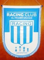 Football, Soccer, Calcio, Argentina, RACING CLUB Team, Pennant Size 36 Cm X 48 Cm   (10116) - Apparel, Souvenirs & Other