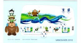 FDC - CANADA - 2009 - J.O VANCOUVER 2010 - Winter 2010: Vancouver