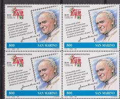 San Marino 1998 Emissione Congiunta ITA / VAT Joint Issue MNH Giovani Paolo II - Emissioni Congiunte