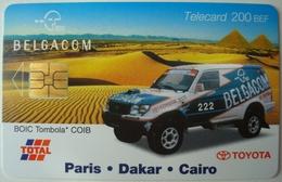 Belgacom Telecard Paris Dakar Cairo. - Rallye Total Toyota. - Automobile - F1