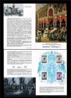 1965 - Belgium FDC Sheet Mi. 1406-07 - Famous People - Royalty - Leopold I [D17_057] - FDC