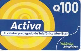 TARJETA DE GUATEMALA DE TELEFONICA MOVISTAR  DE 100 QUETZALES - Guatemala