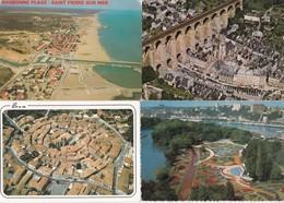 50 Vus Aeriennes De France---cpm Couleur - Postkaarten