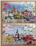 Tanzania 1997 Flowers Of The World Fleurs Flore Flora Blumen Blüten Orchidées 2 Sheets + 2 Souvenir Sheets MNH** - Tanzanie (1964-...)