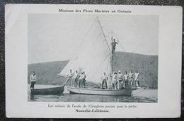 Caledonie Nouvelle Enfants Ecole Hienghene Peche Cpa - New Caledonia