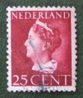 25 Ct WIlhelmina Konijnenburg NVPH 341 (Mi 348) 1940-1947 Gestempeld / Used  NEDERLAND / NIEDERLAND - Period 1891-1948 (Wilhelmina)